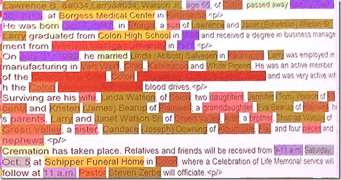 由Robo-Keying软件进行颜色编码的ob告