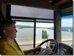 Driving across Mississippi River at Prarie du Chien, WI