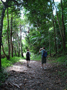 Gus and I walking in Kuranda