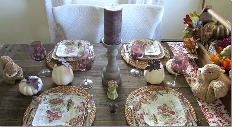 Fall table setting for entertaining