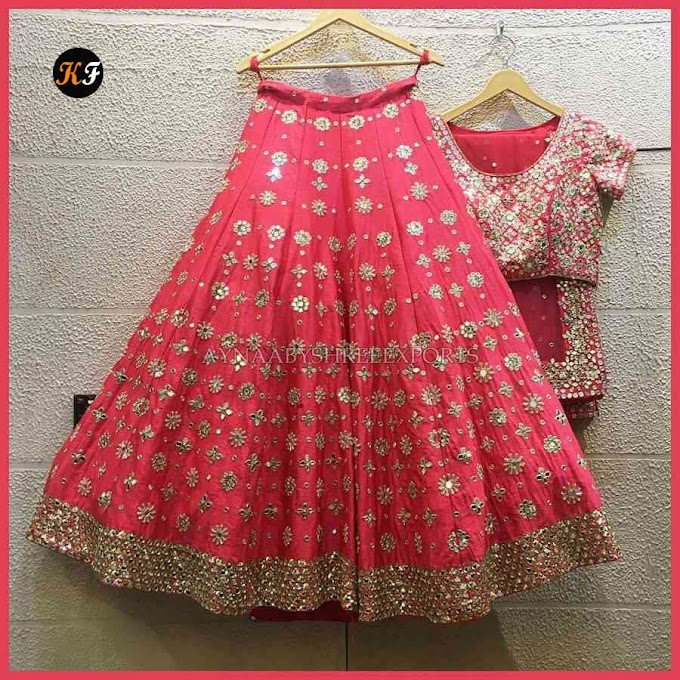 Gajari  Embroidered Attractive Party Wear Lehenga Choli