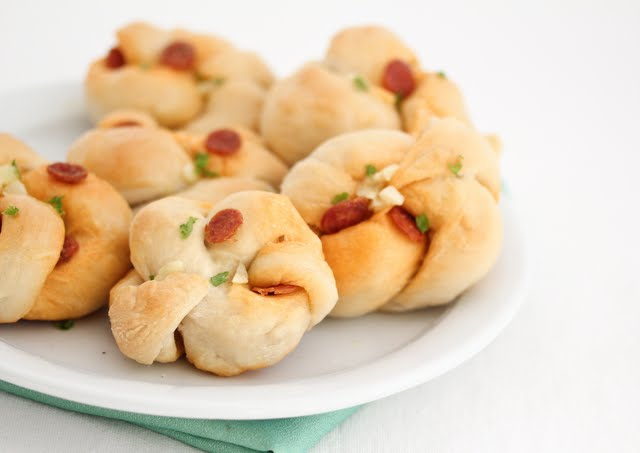 photo of Pepperoni Garlic Knots on a plate