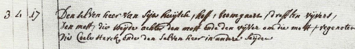 Detail-Uittreksel kadastrale legger van 1764 van Oppum (Herk-de-Stad)