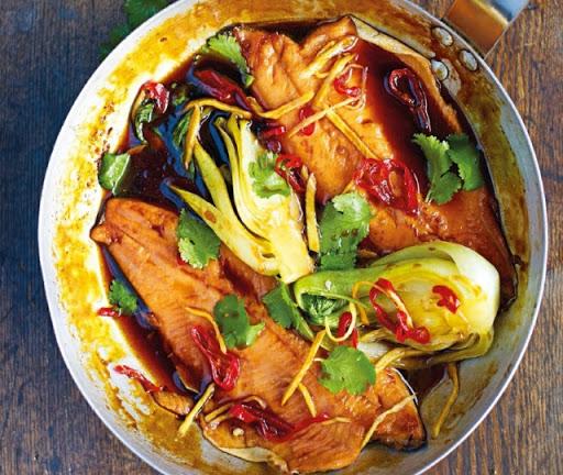 Vietnamese caramel trout