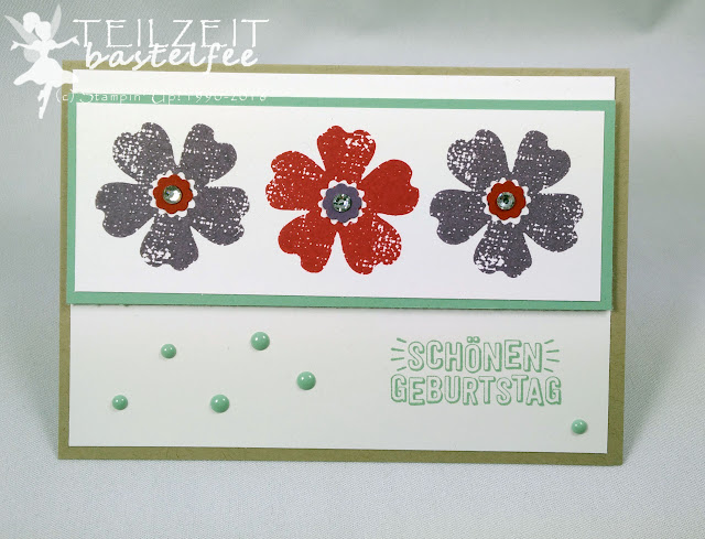 Stampin' Up! - In{k}spire_me #251, Flower Shop, Geburtstag, Birthday, Itty Bitty, Enamel Dots, Konfetti Grüße, Confetti Celebration, Color Challenge