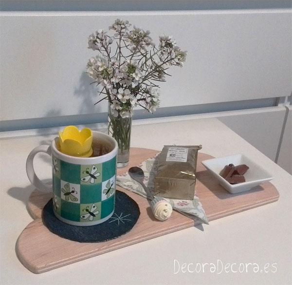 Desayunar con flores silvestres