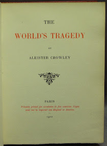 Cover of Aleister Crowley's Book World Tragedy