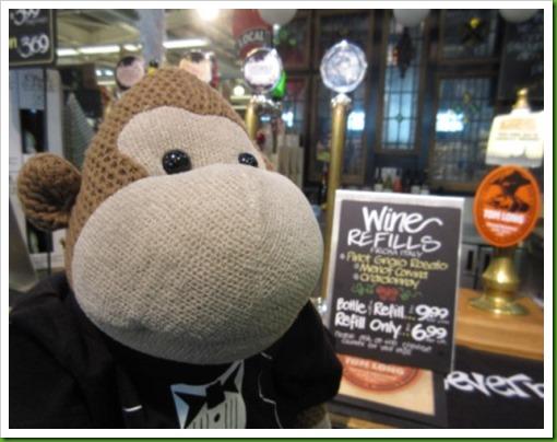 Wine refills Wholefood Market