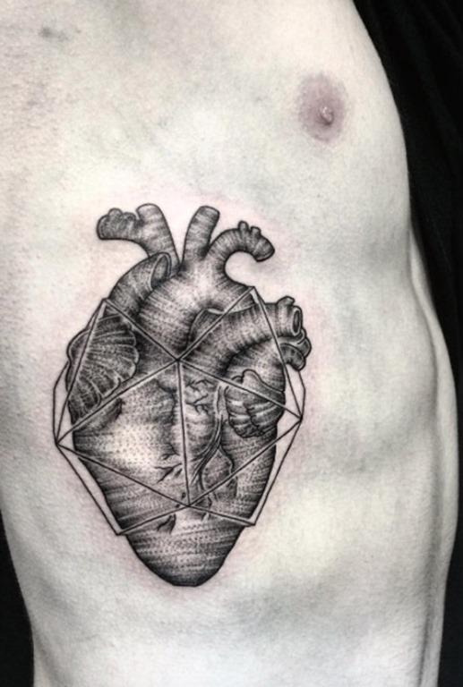 Isso linear dotwork coração