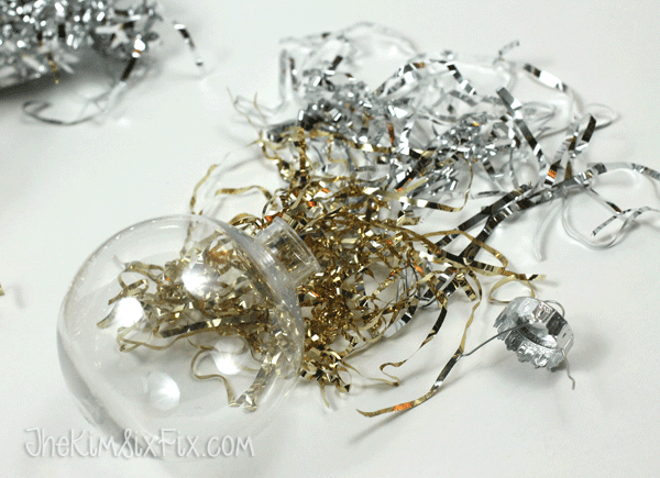 Silver and Gold strand ornaments