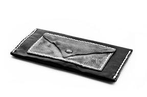 Кошель ручной работы кожаный чёрный № 142