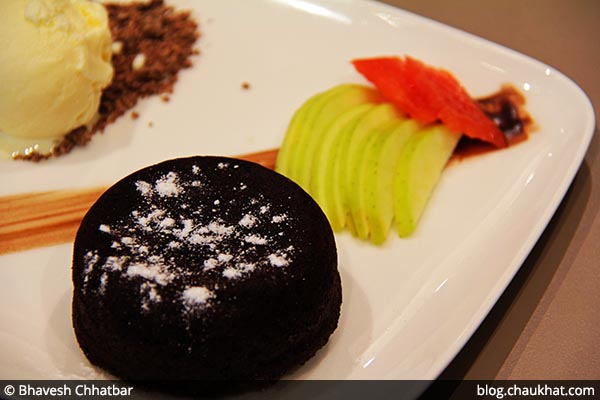 Chocolate Lava Cake served at 212 All Day Cafe & Bar at Phoenix Marketcity in Pune