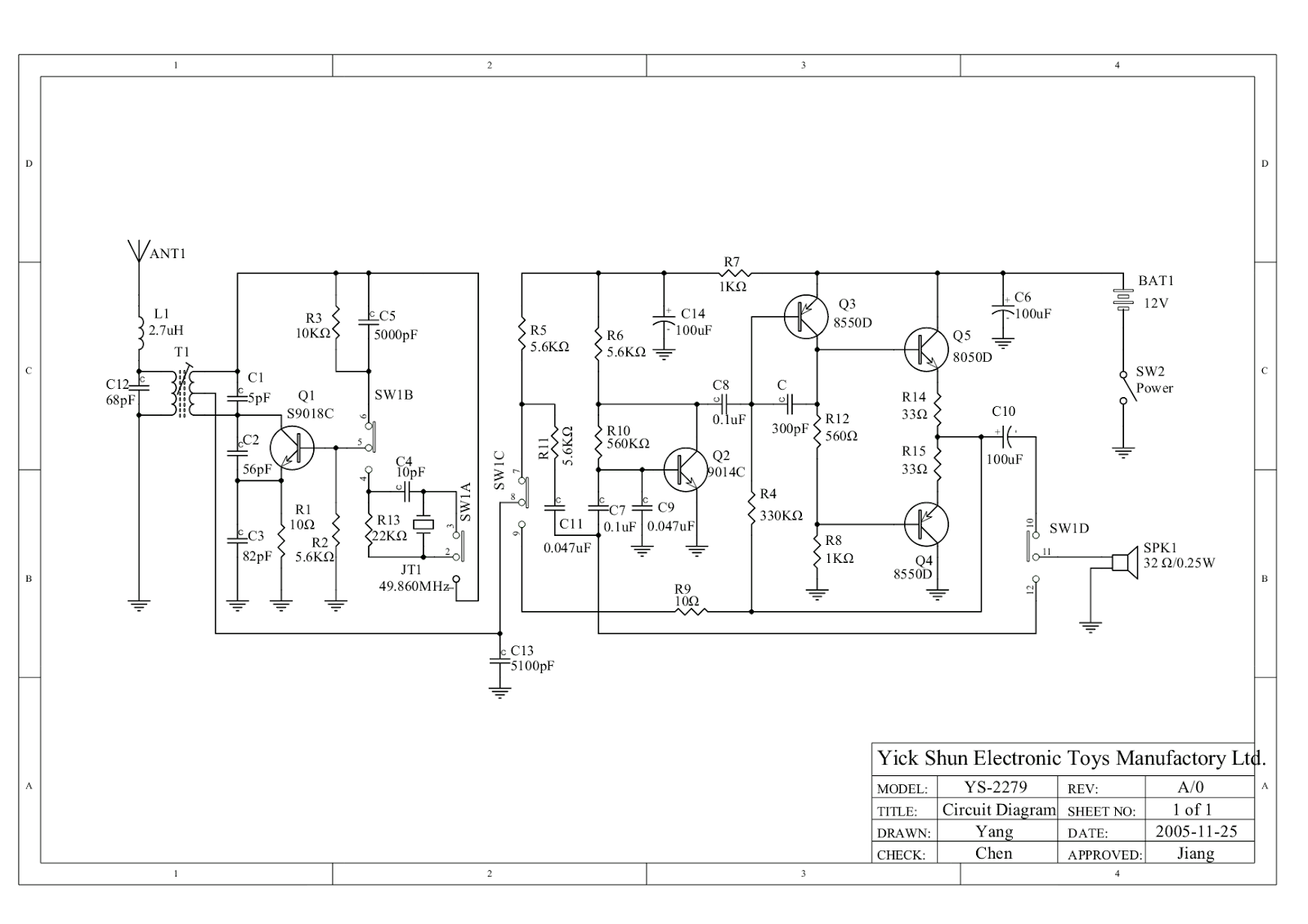 Simple Walkie Talkie Circuit Easy To Build