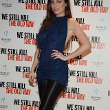 WWW.ENTSIMAGES.COM -    Louise Cliffe  arriving at      We Still Kill The Old Way - private film screening at The Ham Yard Hotel, London September 29th 2014Private screening of forthcoming film about a group of former 1960s gangesters who come out of retirment to take on a group of youths after one of their number is murdered.                                                 Photo Mobis Photos/OIC 0203 174 1069