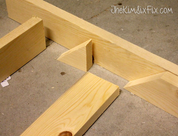Setting up wood blocks for louvers