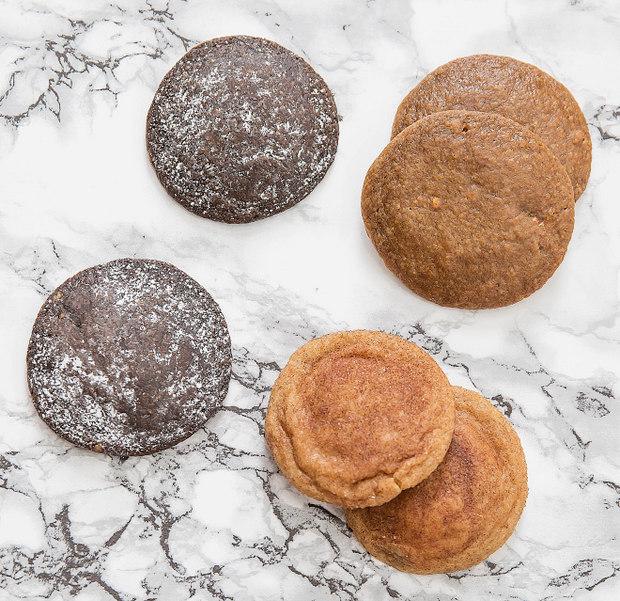 overhead photo of cookies