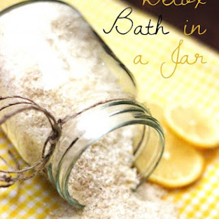 Epsom Salt Foot Bath Detox in a Jar
