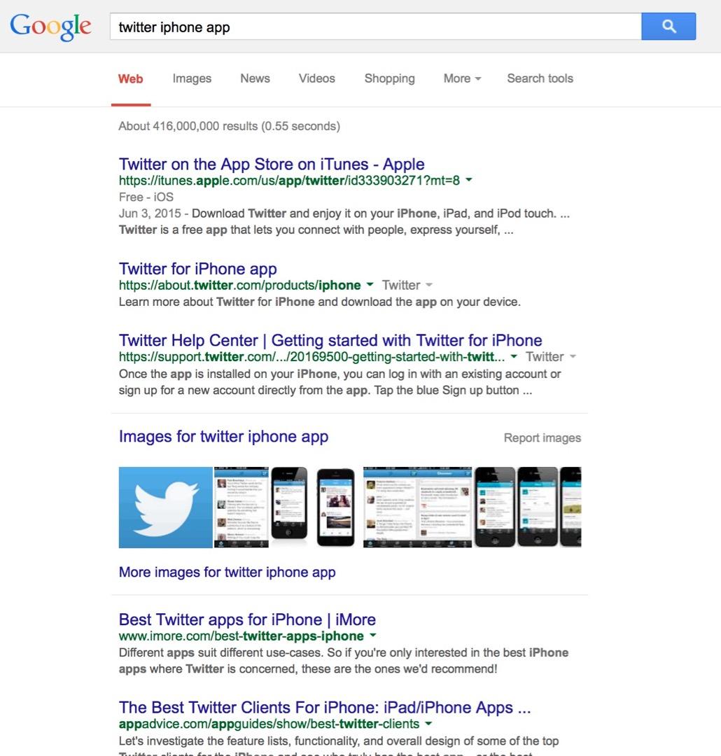 App StoreとGoogleのサーチエンジン比較