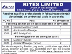 RITES Limited Advertisement 2018 www.indgovtjobs.in