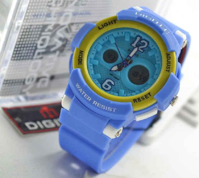 Digitec 2096 ladies blue rubber
