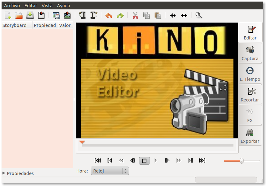 Capturar vídeo cámara digital en ubuntu con Kino