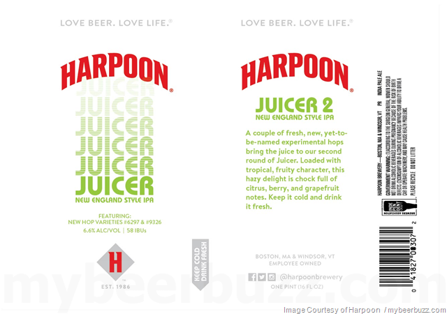 Harpoon Juicer & Juicer 2 NEIPA Coming To 16oz Cans