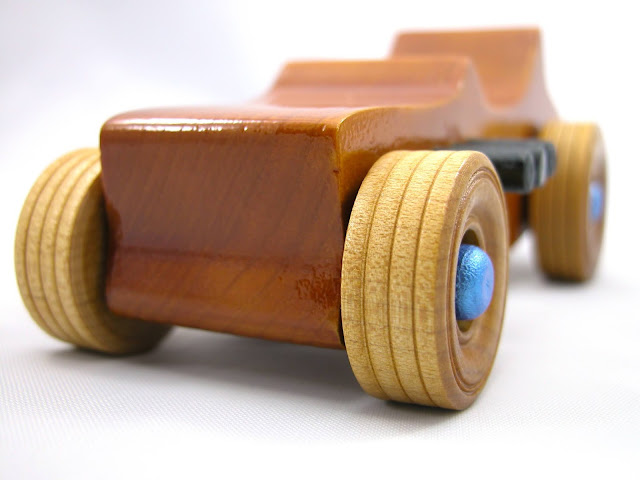 Handmade Wood Toy Car Hot Rod Freaky Ford Based on the 1927 Ford 27 T--Bucket