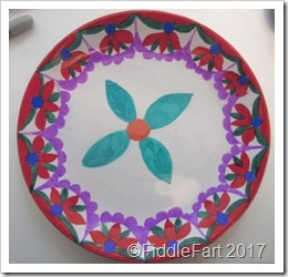 Sharpie Pen Painted Plate 1