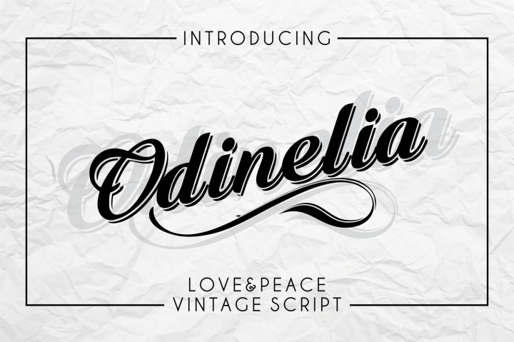 Download Odinelia - Love and Peace vintage script Font Family From