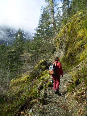 Climbing up Big Hump