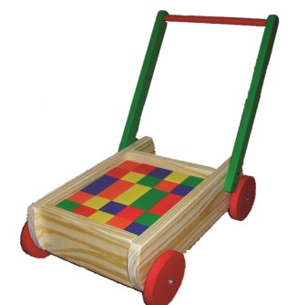 Carro Andador cubos grandes de madera - carro caminador