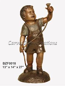 Boy, Bronze, Fountain, Statue