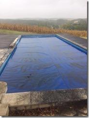 zwembad met zeil
