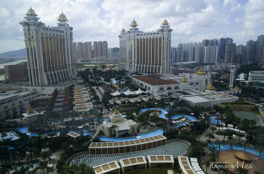 酒店房間外的壯觀景緻