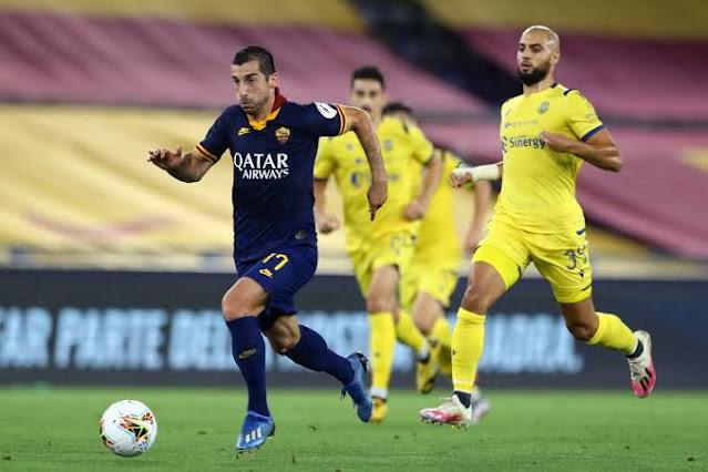 Hellas Verona vs Roma match on K24 tv today photo