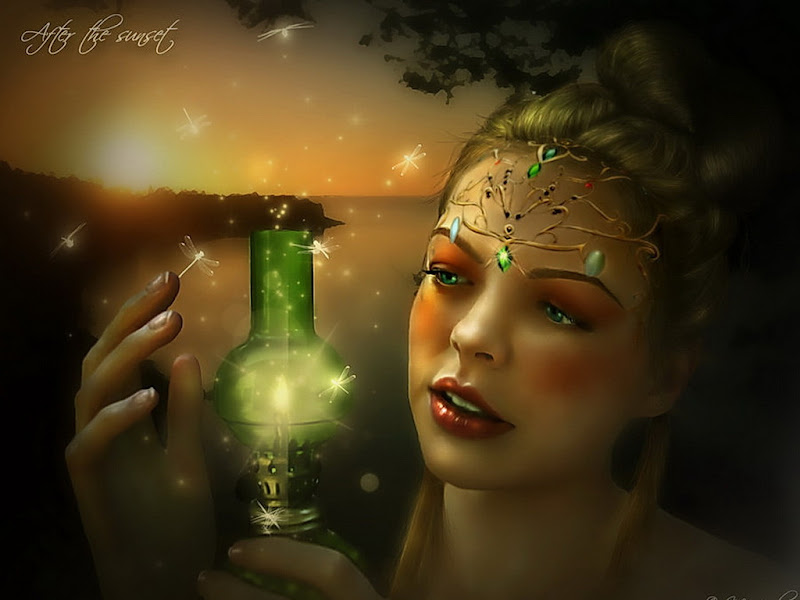 Green Magic Lamp, Green Witches