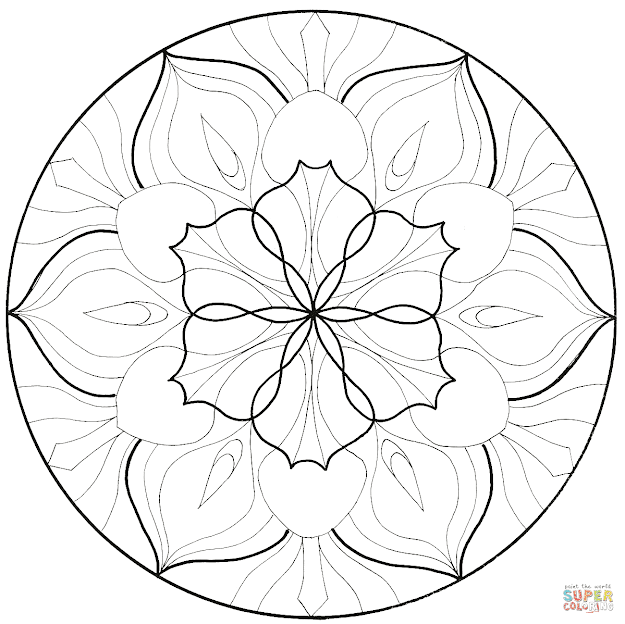 Click The Flower Mandala Coloring Pages To View Printable