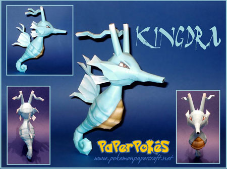 Pokemon Kingdra Papercraft