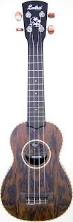 laka vintage jhs butterfly soprano ukulele vus75