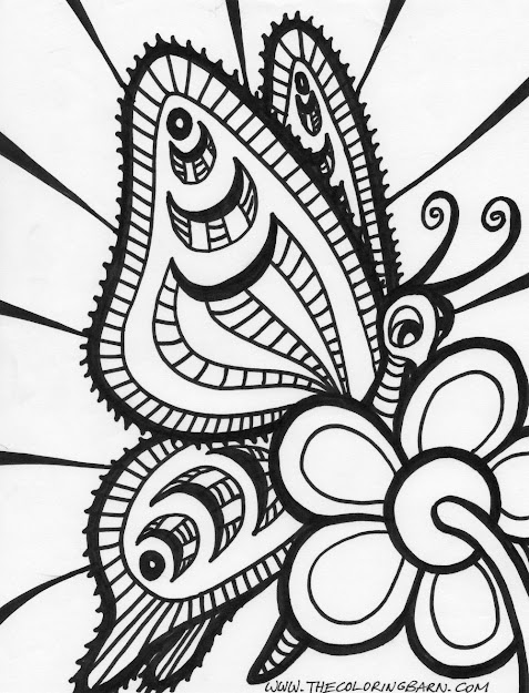 Adult Abstract Art Coloring Pages Free Colouring Pictures To Print