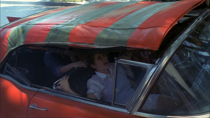 The Freddy-mobile morphs and traps the Elm Street kids.