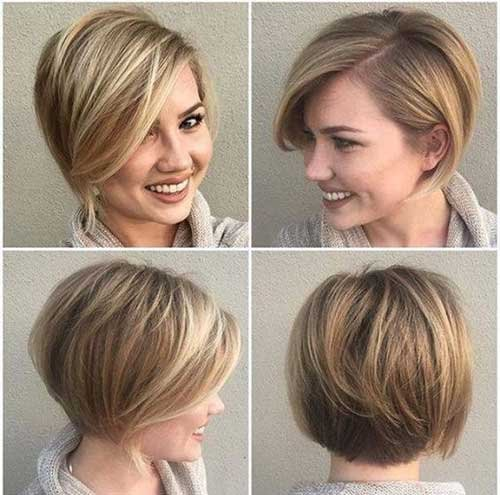 Layered Simple Bob Hairstyle For Fine Hair Fashion 2d