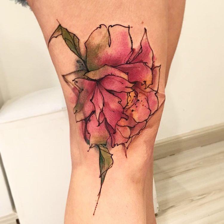 esta_surpreendente_aquarela_flor_da_tatuagem