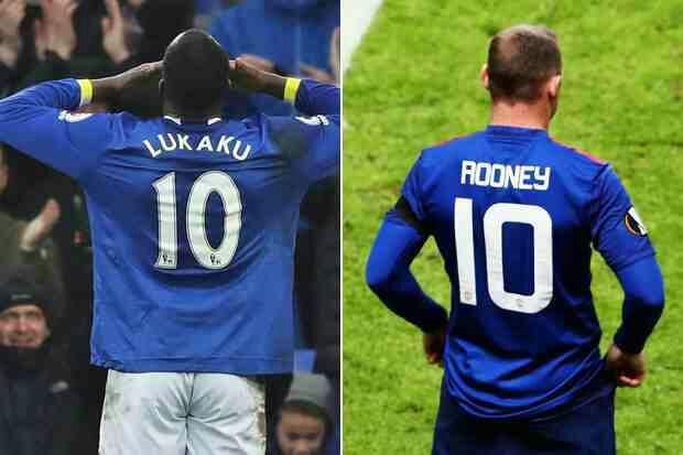 Rooney to take Lukaku's No.10 shirt at Everton*