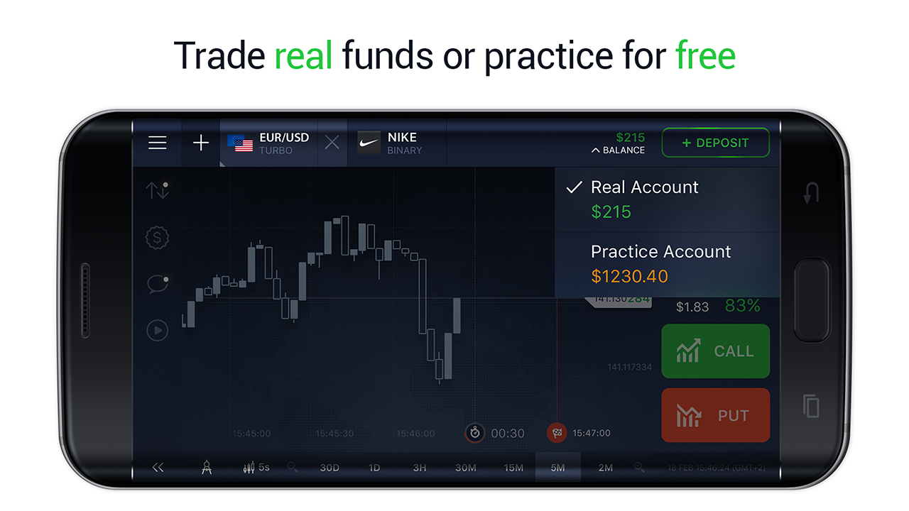 IQ Option - Binary Options, Forex, CFD's, Bitcoin- screenshot