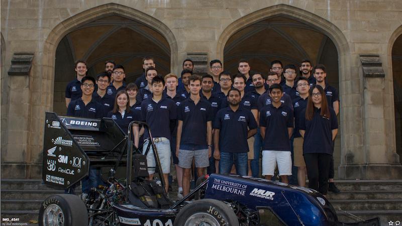 MUR Motorsports – это студенческая команда Мельбурнского университета, которая участвует в формуле SAE каждый год