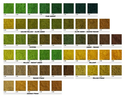 Colour Chart: Static Grass 2mm