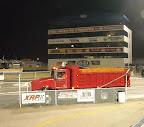 O'Reilly Raceway Park - Asphalt Truck Setting Up to Unload