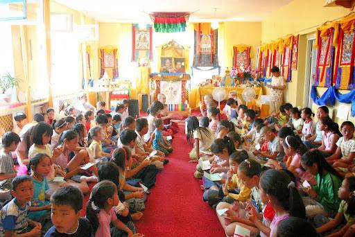 Mother Tara's Children's Camp in June 2005, Mongolia. Photo by Ven. Sarah Thresher.