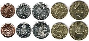 gambar mata uang dolar selandia baru koin atau logam